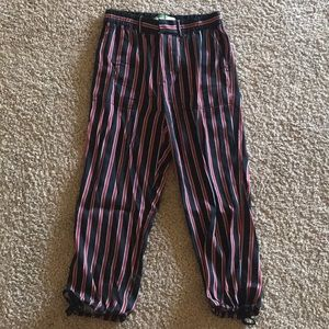 Anthro petite striped joggers